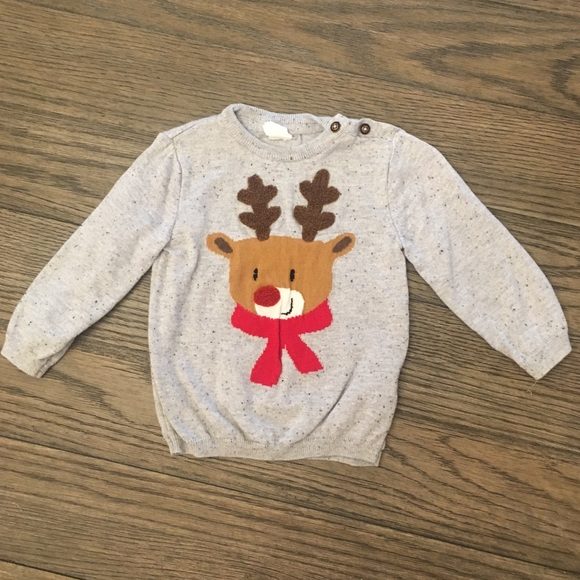 Hm Shirts Tops Baby Boys H M Christmas Sweater Poshmark